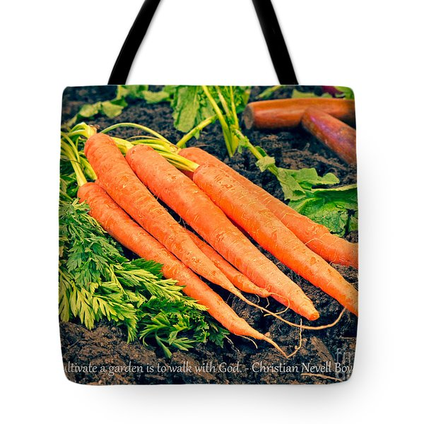 Walk With God - Garden Quote Tote Bag