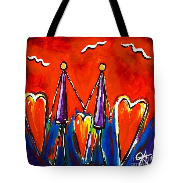 Walk With Me Tote Bag by Jackie Carpenter