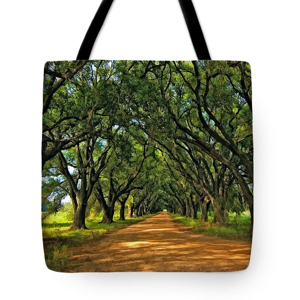 Walk With Me Paint Version Tote Bag by Steve Harrington
