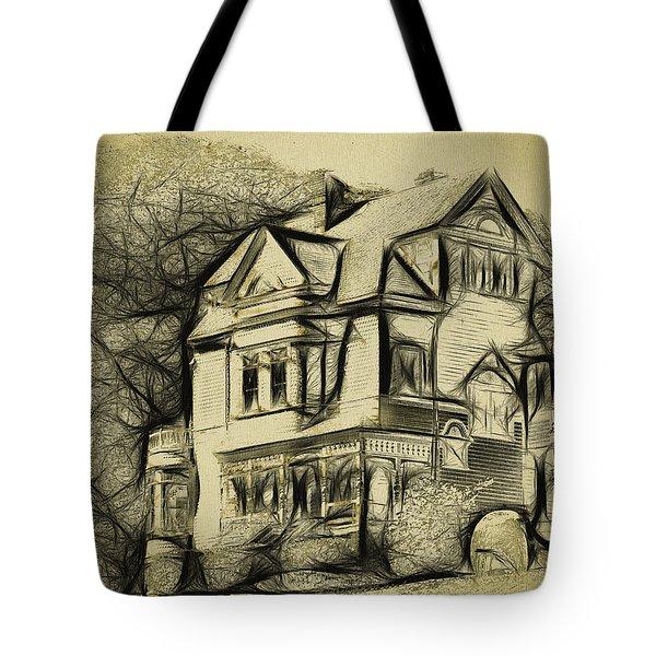 Walker-ames House Sketch Tote Bag by Bob Galka