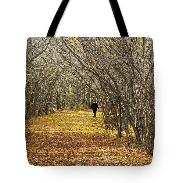 Walking A Golden Road Tote Bag