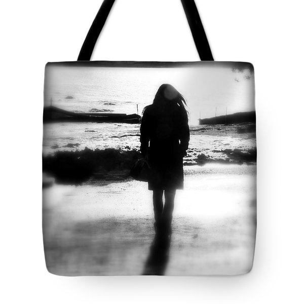 Walking Alone Tote Bag by Valentino Visentini