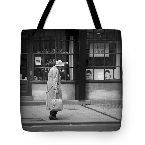 Walking Down The Street Tote Bag by Chevy Fleet