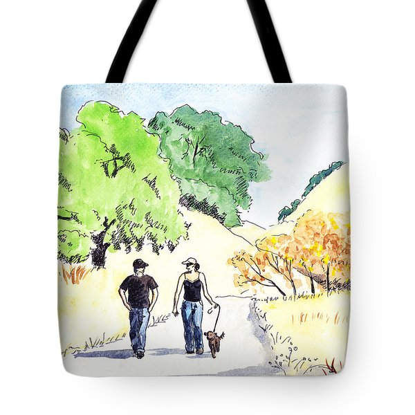 Walking In The Park Tote Bag