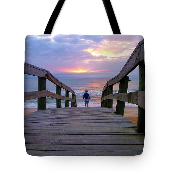 Walking Into Paradise Tote Bag