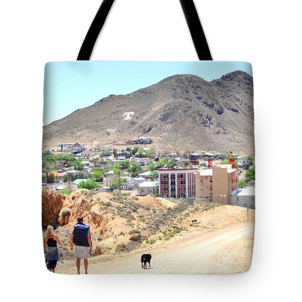 Tote Bag featuring the photograph Walking Into The Past by Marilyn Diaz