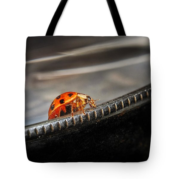 Walking On Edge Tote Bag