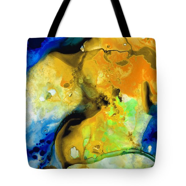 Walking On Sunshine - Abstract Painting By Sharon Cummings Tote Bag