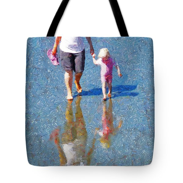 Walking On Water Tote Bag by Steve Taylor