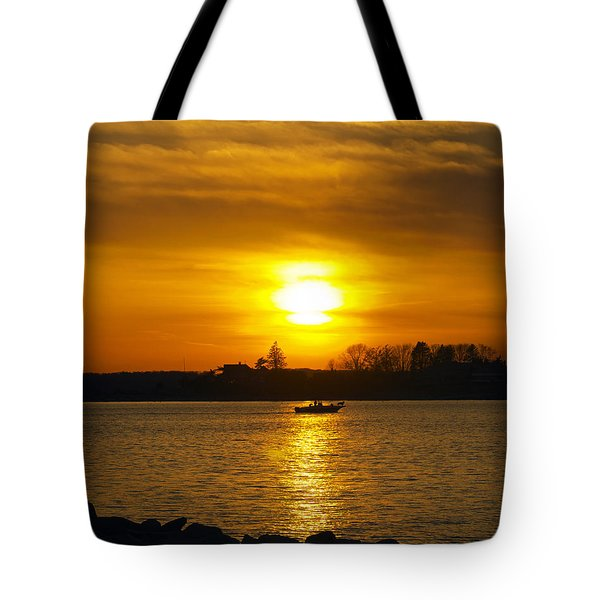 Walking The Dog Tote Bag by Joe Geraci