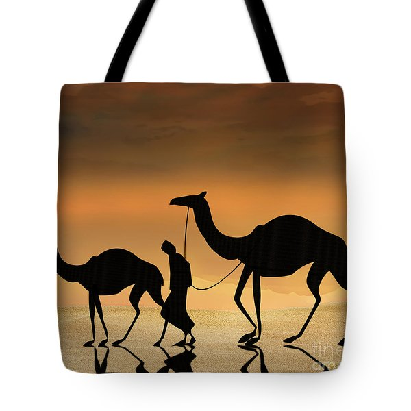 Walking The Sahara Tote Bag by Bedros Awak