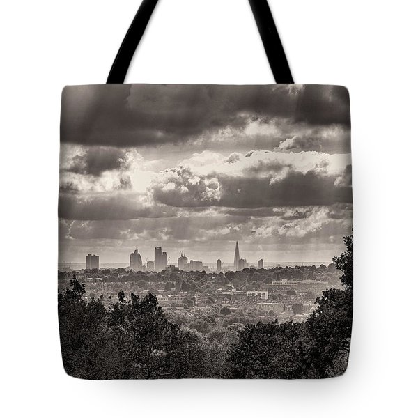 Tote Bag featuring the photograph Walking The Sights by Lenny Carter