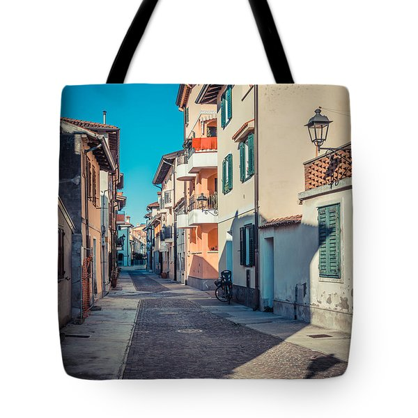 walking through Grado - through the past Tote Bag
