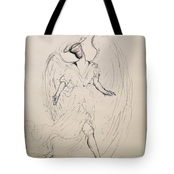 Walking With An Angel Tote Bag