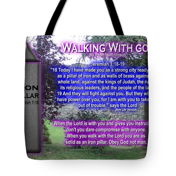 Walking With God Tote Bag