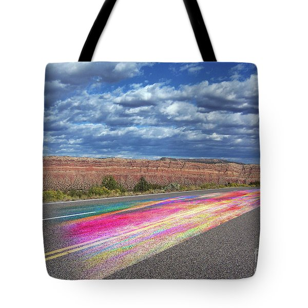 Tote Bag featuring the digital art Walking With God by Margie Chapman