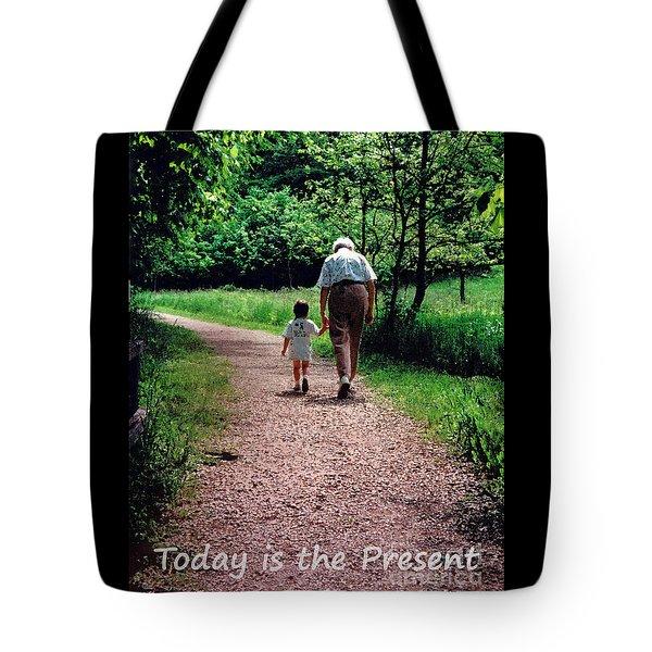 Walking With Grandma Tote Bag