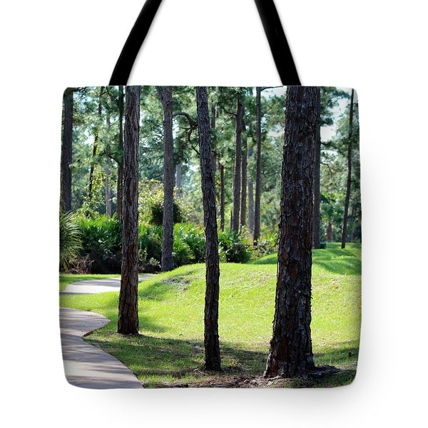 Walkway At The Gardens Tote Bag
