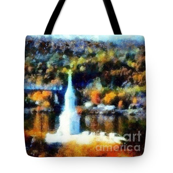 Walkway Over The Hudson Autumn Riverview Tote Bag by Janine Riley