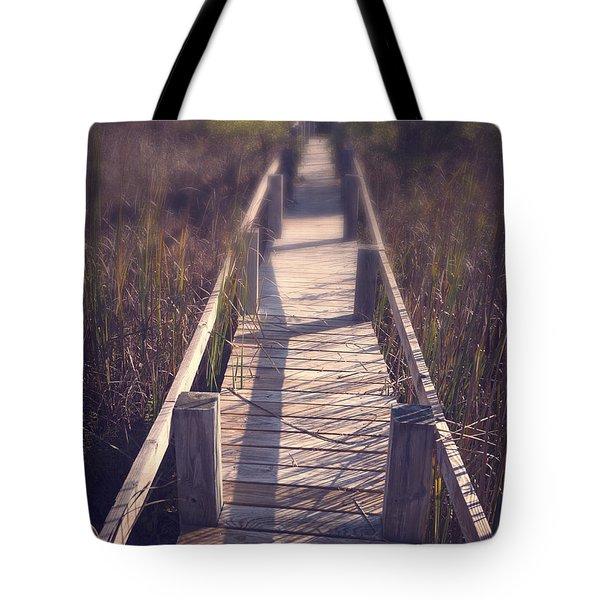 Walkway Through The Reeds Appalachian Trail Tote Bag by Edward Fielding