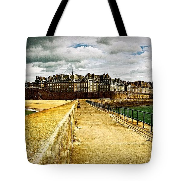 Walkway To Intra Muros Tote Bag by Elf Evans
