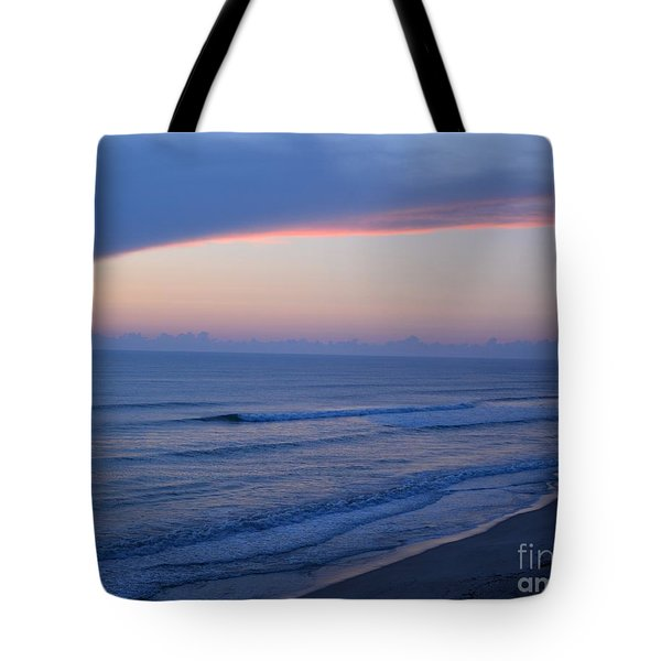 Tote Bag featuring the photograph Wall Cloud At Sunrise by Bob Sample