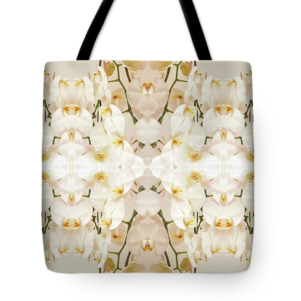 Wall Of Orchids II Panorama Tote Bag