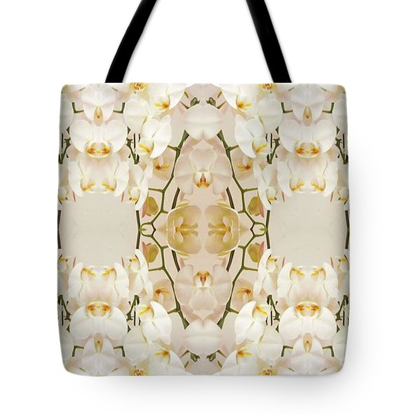 Wall Of Orchids Panorama Tote Bag