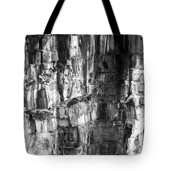 Tote Bag featuring the photograph Wall Of Rock by Miroslava Jurcik