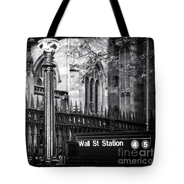 Wall St Station Tote Bag by John Rizzuto