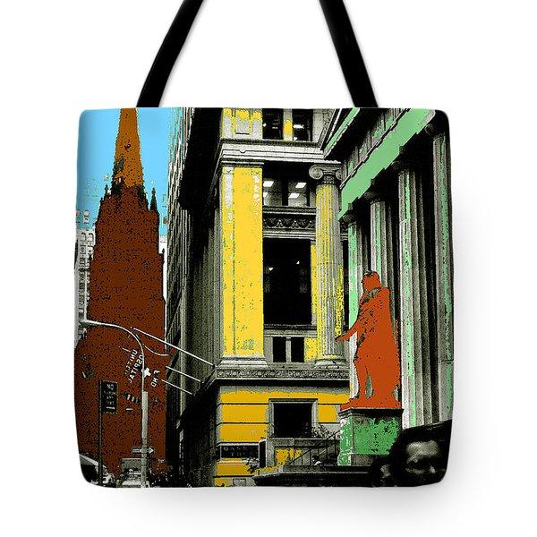 New York Pop Art 99 - Color Illustration Tote Bag