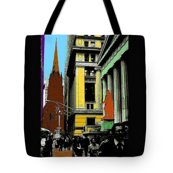 New York Pop Art Blue Green Red Yellow Tote Bag