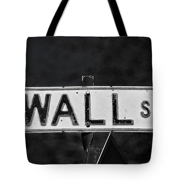 Wall Street Tote Bag by Karol Livote