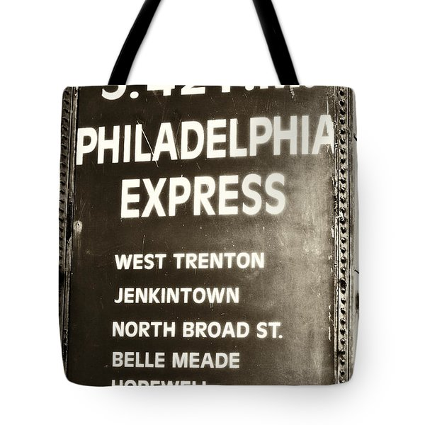 Wall Street Philadelphia Express Tote Bag