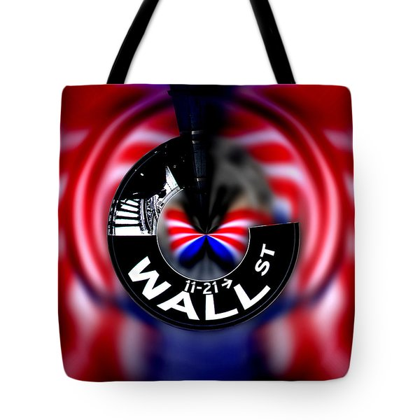 Wall Street Sign Circagraph Tote Bag
