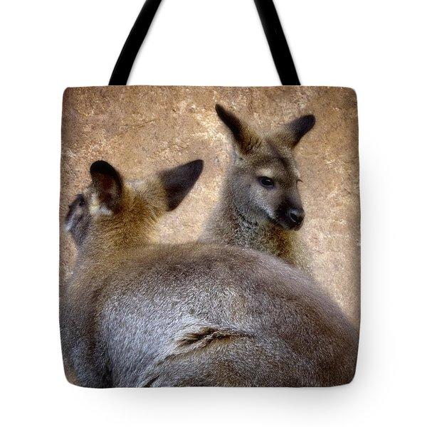 Wallabies Tote Bag by Ellen Heaverlo