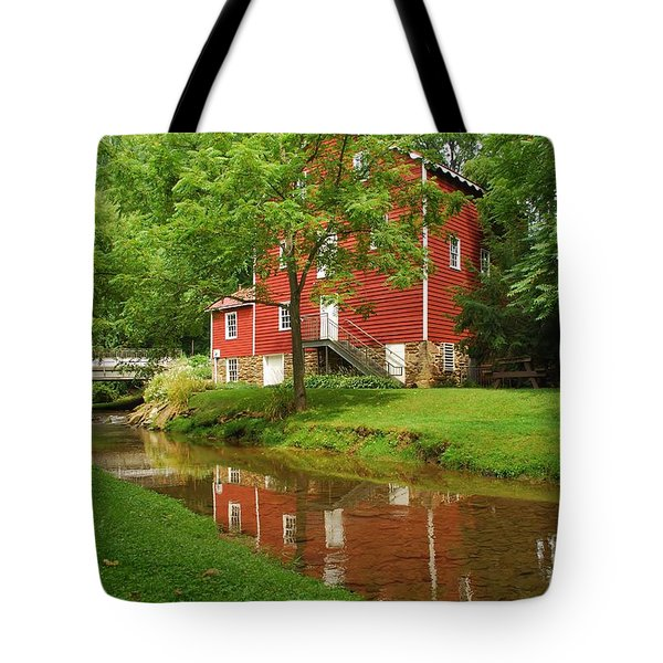 Wallace Cross Grist Mill Reflections Tote Bag