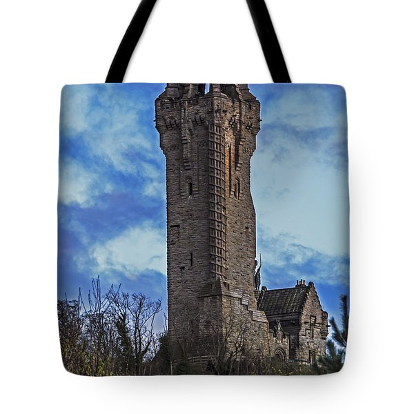 Wallace Monument During Sunset Tote Bag
