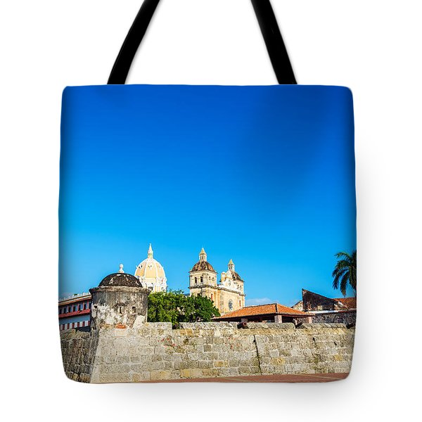 Walled City Of Cartagena Colombia Tote Bag