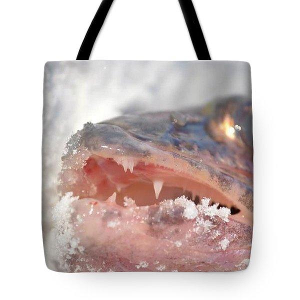Walleye Teeth Tote Bag