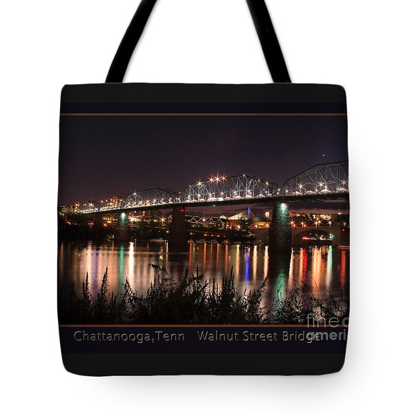 Tote Bag featuring the photograph Walnut At Night by Geraldine DeBoer
