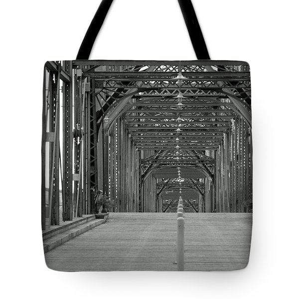 Tote Bag featuring the photograph Walnut Street Bridge by Geraldine DeBoer