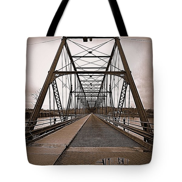 Walnut Street Bridge Tote Bag by Joseph Skompski