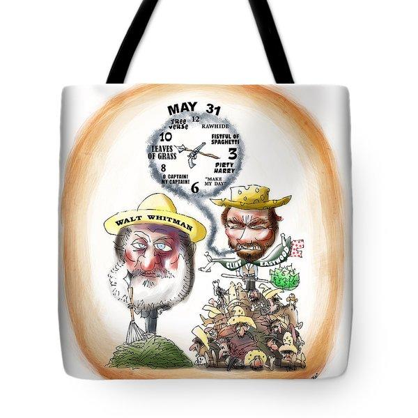 Walt Whitman Meets Clint Eastwood Tote Bag