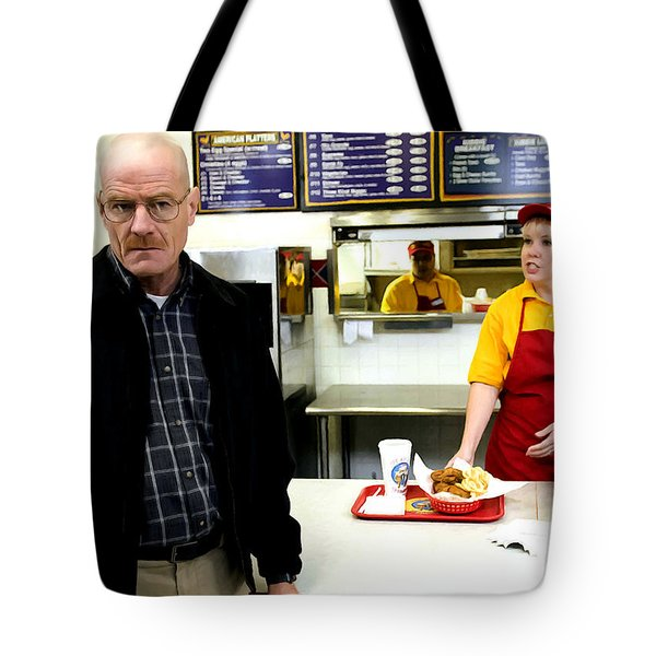 Walter White In Pollos Hermanos @ Breaking Bad Tote Bag
