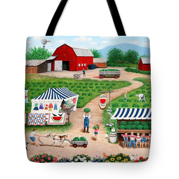 Walter's Watermelons Tote Bag