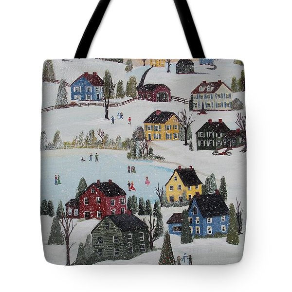 Waltzing Snow Tote Bag