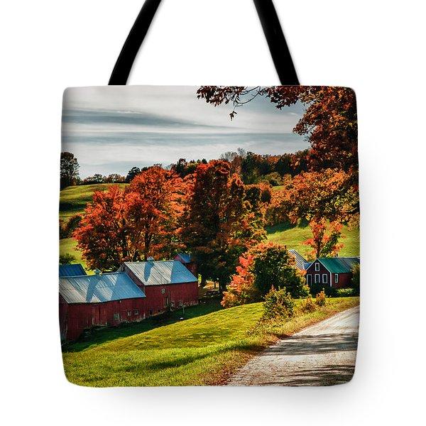Tote Bag featuring the photograph Wandering Down The Road by Jeff Folger
