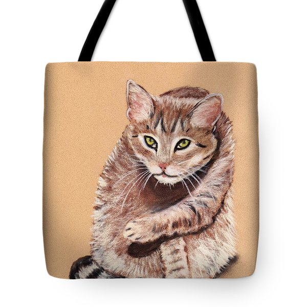 Tote Bag featuring the painting Want To Play by Anastasiya Malakhova