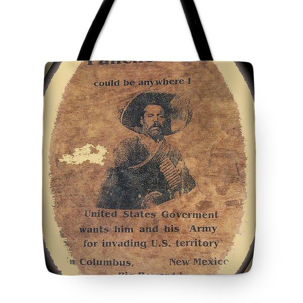 Wanted Poster For Pancho Villa After Columbus New Mexico Raid  Tote Bag